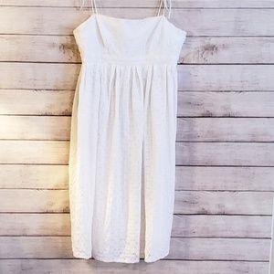 Gap White Eyelet Summer Dress, Spaghetti Straps